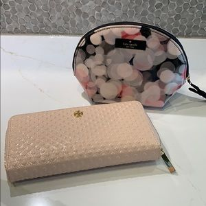 Tory Burch wallet with Kate Spade bag